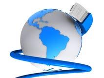 globalt nätverk stock illustrationer