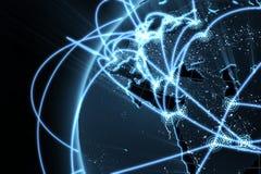 globalt nätverk för begrepp stock illustrationer