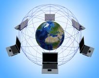 globalt nätverk för dator fotografering för bildbyråer