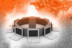 globalt nätverk för dator Royaltyfria Foton