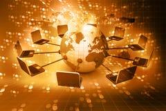 globalt nätverk för dator stock illustrationer
