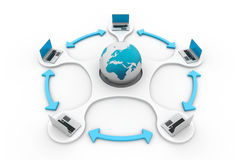 globalt nätverk för dator Arkivfoto