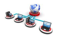 globalt nätverk för dator Arkivbild