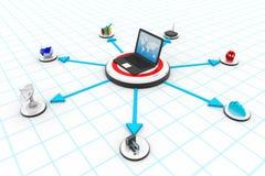 globalt nätverk för dator Arkivbilder