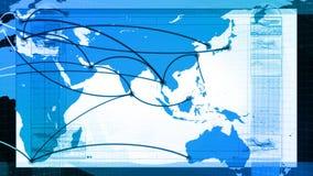 Globalt nätverk, lopp, kommunikationer vektor illustrationer