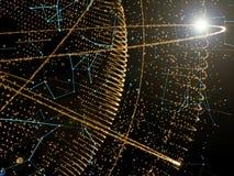 Globalt nätverk och datautbyten över jorden Royaltyfria Foton