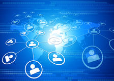 globalt nätverk för affär Arkivbild