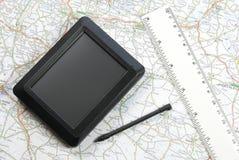 globalt placeringssystem för apparat Arkivfoto