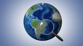 Globalt sökande royaltyfri illustrationer