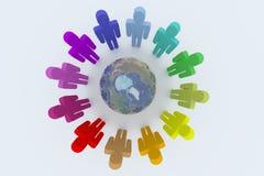 globalt samarbete Arkivbild