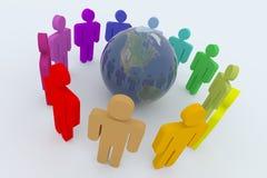 globalt samarbete Arkivbilder