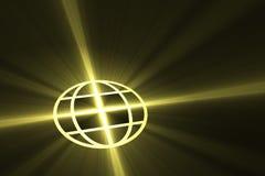 Globalt symbol med den ljusa signalljuset Royaltyfri Bild