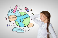 Globalt teknologibegrepp Fotografering för Bildbyråer