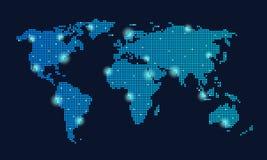 Globalt teknologinätverk Arkivbilder