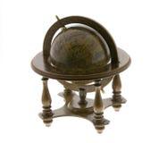 Globe. Antique globe isolated on a white background Royalty Free Stock Photo