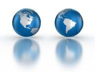 Globe. Isolated on white fading reflection Stock Image