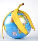 Globe. A globe show like banana as a easy thing Royalty Free Stock Photo