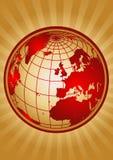 Globe. With sunrise background eps Royalty Free Stock Photos