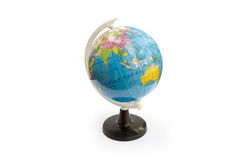 Globe. One little shool globe isolated on white background Stock Photo