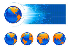 Globe. Vector with different angle Stock Photography