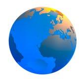 Globe. A 3D Globe on a white background Stock Image