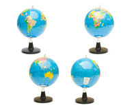 Globe. Four school globes isolated on a white background Stock Photo