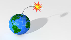 Globe. A 3D Globe on a white background Stock Photography
