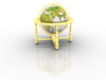 Globe. Earth model - the globe on a white background Stock Photos