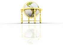 Globe. Earth model - the globe on a white background Royalty Free Stock Photography