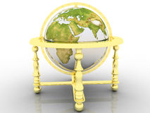 Globe. Earth model - the globe on a white background Stock Image