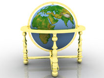 Globe. Earth model - the globe on a white background Stock Photography