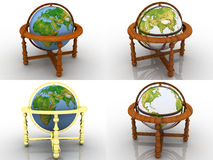 Globe. Earth model - the globe on a white background Royalty Free Stock Photo
