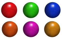 Globe. Multicolor globes in white background Stock Photos