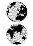 Globe. Two globes in white background eps Stock Images