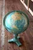Globe. In passage at school Royalty Free Stock Images