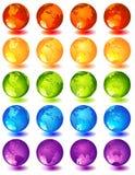 Globe. Vector illustration -20 multi-coloured glass globes Royalty Free Stock Photo