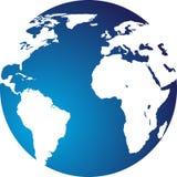 Globe. Illustration art of blue globe with isolated background vector illustration