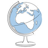 Globe. Illustration of terrestrial globe isolated Stock Images