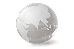 Globe. Glass globe on white background Stock Photos