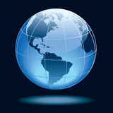 Globe. Showing earth with continents North and South America Royalty Free Stock Photos