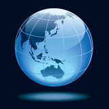 Globe. Showing earth with continents: Australia and Asia Royalty Free Stock Image