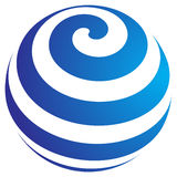 Globe. Computer generated globe logo on white background Stock Images