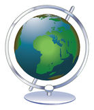 Globe. Cartoon illustration of a earth globe axis Royalty Free Stock Images