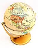 Globe. Round a globe isolated on white background Royalty Free Stock Photos