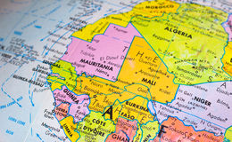 Globe. Close-up image of a globe Royalty Free Stock Photography