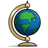 Globe. Illustration for a desktop spinning globe Stock Images