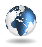 Globe. With abstract continents of Europe and Africa Royalty Free Stock Image