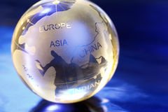 Globe. Marble globe. Europe in focus stock photography