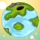 Globe. Lustration of landscape cartoon globe Royalty Free Stock Photos