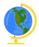 Globe. Vector clip-art school globe Stock Photos
